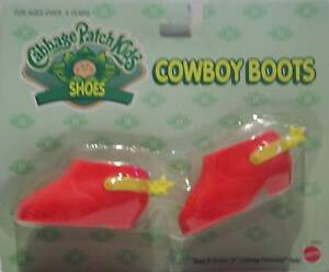 Cabbage Patch Kids Shoes CPK Doll Red Cowboy Boots - Shoes  - BRAND NEW