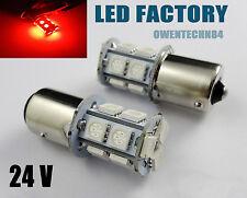 10X 1156 BA15s P21W R5W 1459 1093 13-SMD LED Car Backup Tail Light Bulb Red 24V