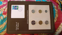 Coin Sets of All Nations Maldives w/card 1982 - 1984 UNC