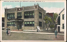 Wayland NY~2 Postcards~American Legion Theatre~Poster~N.Y. State Canners Factory