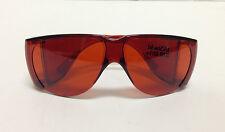 NoIR N570 UV Shield Sunglasses Dark Red Orange, Allows in 13% Light, Low Vision