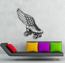 Wall Stickers Vinyl Decal Roller Skates Shoes with Wings Sport (ig806)