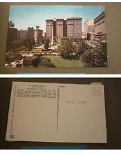 Old 1960s Postcard, San Francisco California, St Francis Hotel, Union Square