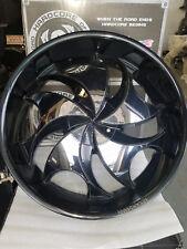 Rocknstarr 561 24x9; 5x114.3/120 Black w/Chrome Wheels Rims