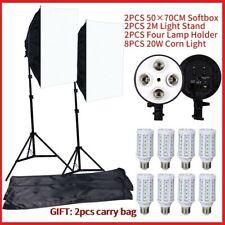 Photo Studio Led 2 Portable SoftBox Professional Lighting Equipment Kit with Bag