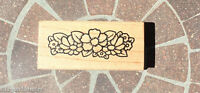 Flower Patch Wood Mounted Rubber Stamp