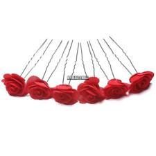 6pcs Rose Flower Waved U Shaped Hair Pins Grips Bobby Pin Salon Wedding MY8L 03