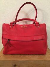 Kate Spade Red Leather Satchel Handbag Purse