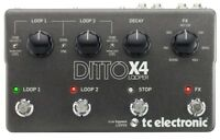 tc electronic Ditto X4 Dual Track Looper 7 Loop FX Guitar Effect Pedal
