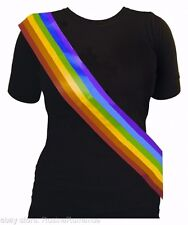 Gay Pride Sash Lesbian LGBT March Freedom Rainbow Celebration Hen Stag Night