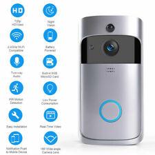WiFi Hd Video Smartphone Door Bell Intercom Security Visual Camera all Silver