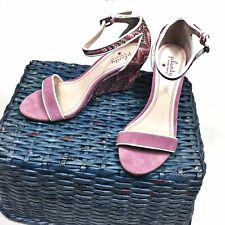 Plenty By Tracy Reese 37.5 Pink Wedge Strappy Sandals