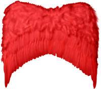 Grandes AILES plumes ROUGES déguisement Femme Homme Démon Diable Halloween NEUF