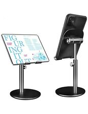 Cell Phone Stand Universal Tablet Dock, Angle Height Adjustable Sturdy - BLACK