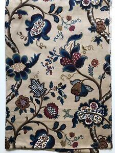 Vintage Sanderson Linen Fabric Crewel Work Design 1.08m Long x 77cm Wide