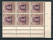 Kuwait 1939 2r India opt MNH block of 6