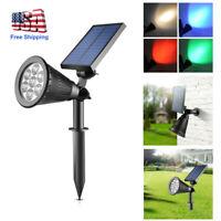 Solar Power Spot Light Outdoor 7-LED Garden Lawn Landscape Path Wall Lamp Decor