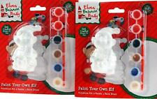 Set Of 2 Paint Your Own Christmas Elf Figurines Craft Kits