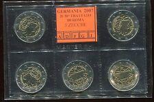 2 euro commemorativo Germania 2007   5 ZECCHE- TRATTATI DI ROMA