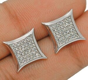 White Sapphire 925 Solid Sterling Silver Earrings Jewelry