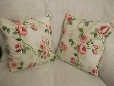 """MELROSE   BY PRESTIGIOUS NEW 100% COTTON FABRIC 1 PAIR OF18""""CUSHION COVERS"""
