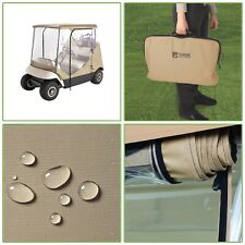 Portable 2 Person Travel 4 Sided Golf Cart Weather Protection Fabric Enclosure