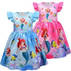 Little Mermaid Princess Girls Kids Dress Summer Dress Dresses Clothes Gifts