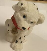 Dalmatian Puppy Dog Resin Figure w-Red Collar-w-Bell-Cartoon Adorable Figurine 2