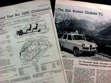 ALFA ROMEO GIULIETTA TI - 1958 - Road Test removed from TheMOTOR