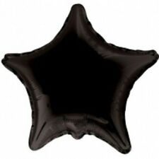 "Star 18"" Plain Black Foil Helium Balloon (Not Inflated) - Any Occasion"