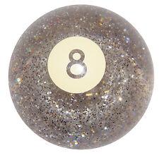 Clear Glitter 8 Ball Shift Knob 3/8-16 thread U.S. Made