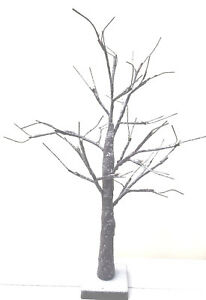 Easter ,Christmas. Wedding LED Twig Table Top Snowy Tree 60cm Battery Operated