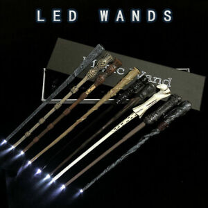 Harry Potter LED Light-up Magic Wand Hermione Dumbledore Cosplay Xmas Free Gifts