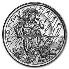 2 oz 999 Silber Round Molon Labe Ultra High Relief Spartaner Soldat 3te Ausgabe