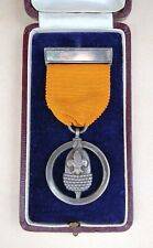 More details for 1930 's - boy scout - silver acorn medal - in original box