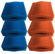Oase Biotec 5/10/30 3 x Coarse and 3 x Fine Red Foam Sponge Filter Set for Pond