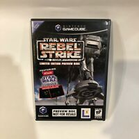 star wars rebel strike rogue squadron preview disc nintendo gamecube complete
