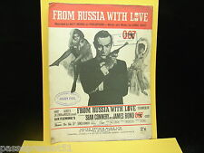 Ancienne partition, From Russia With Love, 1963, James Bond, Sean Connery