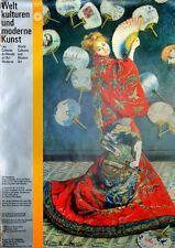 """Olympische Spiele 1972 München KULTUR-EDITION """"Weltkulturen"""" DIN A0 Claude Monet"""
