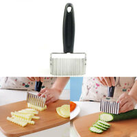 Stainless Steel Potato Wavy Cutter Vegetable Fruit Knife Slicer Kitchen Tool Hot