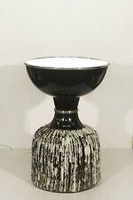 """Hans Welling & Ceramano - Grande lampe vintage """"Syrakus"""" céramique WG 1960s"""