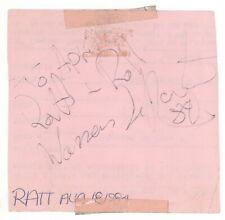 """Warren DeMartini of RATT 8/18/84 Spokane WA Autograph! SIGNED """"Ratt - Roll"""""""