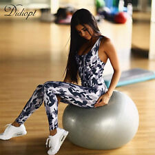 Women Camouflage Fitness Yoga Set Running Set Back Cross Bandage Gym Tracksuit