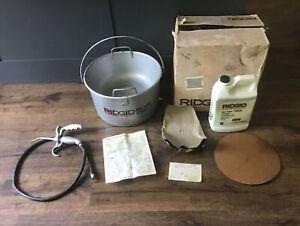 NEW NOS Ridgid Model 318 Oiler Bucket W/ Strainer 300 700 Pipe Threading