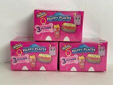 Set Of 3 Mystery Shopkins Happy Places 3 Surprise Petkins+1 Tile