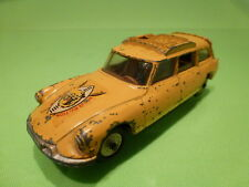 Corgi Toys CITROEN DS SAFARI - WILD LIFE PRESERVATION - YELLOW 1:43 - GOOD COND