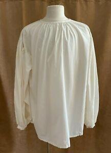 XXL Men Shirt Custom Pirate Medieval costume adult ivory 2X tunic King unisex