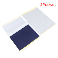 2Pcs/Set  A4 Tattoo Transfer Paper Stencil Carbon Thermal Tracing Hectograph G1
