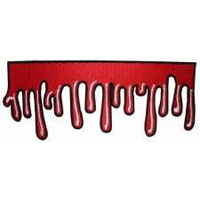 Dripping Blood Strip Patch Oozing Horror Fan Decor Kreepsville Iron-On Applique