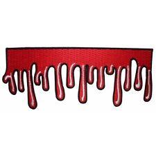 Dripping Blood Strip Patch Oozing Horror Fan Decor Kreepsville Iron-On Applique